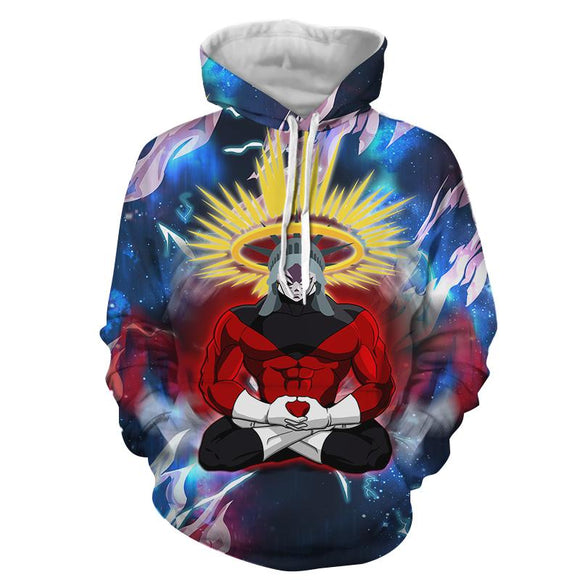Dragon Ball Z Yellow Aura Crowned Jiren The Gray Hoodie
