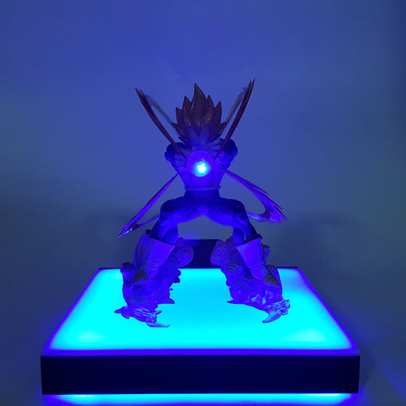 DBZ Vegeta Super Saiyan Super Galick Gun Blue DIY 3D LED Light Lamp