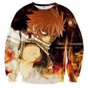 Fairy Tail Anime Fierce Fire Dragon Slayer Natsu Sweatshirt