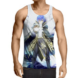 Fairy Tail Anime Jellal Fernandes Magic Spell White Tank Top