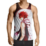 Fairy Tail Anime Natsu Art Drawing Black And White Tank Top