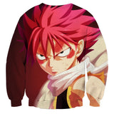 Fairy Tail Anime Natsu Dragneel Dragon Scale Face Sweatshirt