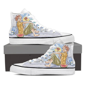 Fairy Tail Chillin Natsu Dragneel Summer Blue Sneakers Shoes