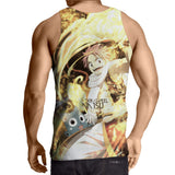 Fairy Tail Cute Natsu Dragneel Happy Flame Aura 3D Tank Top