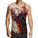 Fairy Tail Dope Natsu Dragneel No Scarf Flame Suit Tank Top