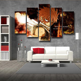 Fairy Tail Etherious Natsu Dragneel Flame Demon 5pcs Canvas