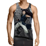 Fairy Tail Gajeel Redfox Brown Panther Lily Black Tank Top