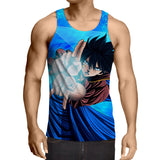 Fairy Tail Gray Breathtaking Ice Make Spell Blue 3D Tank Top