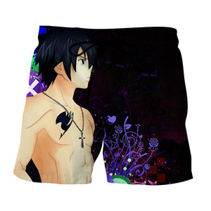 Fairy Tail Gray Ice Devil Slayer Black Graffiti Boardshort