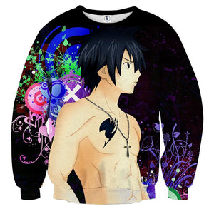Fairy Tail Gray Ice Devil Slayer Black Graffiti Sweatshirt