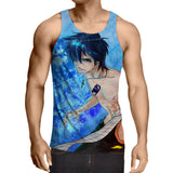 Fairy Tail Gray Naked Handsome Full Print Blue 3D Tank Top