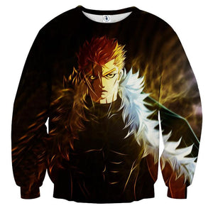 Fairy Tail Laxus Lightning Bolt Scar Badass Black Sweatshirt