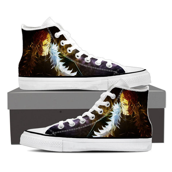 Fairy Tail Laxus Lightning Bolt Scar Badass Epic Black Shoes