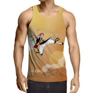 Fairy Tail Natsu Always On The Go High Jump Yellow Tank Top