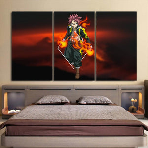 Fairy Tail Natsu Dragneel Black Tartaros Outfit 3pcs Canvas