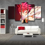 Fairy Tail Natsu Dragneel Dragon Scaled Face Red 5pcs Canvas