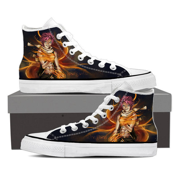 Fairy Tail Natsu Dragneel Fanart Hot Flaming Hand Epic Shoes