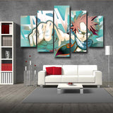 Fairy Tail Natsu Dragneel Intense Look Fist Bump 5pcs Canvas