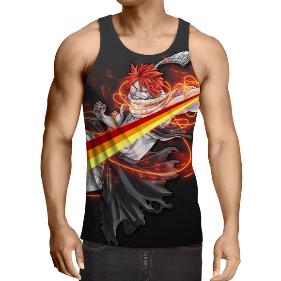 Fairy Tail Natsu Dragneel Majestic Orange String Tank Top