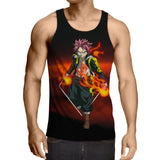 Fairy Tail Natsu Dragneel Tartaros Arc Outfit Black Tank Top