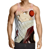 Fairy Tail Natsu Fan Art Drawing Phenomenal Pink 3D Tank Top