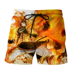 Fairy Tail Natsu Fire Dragon Slayer Phoenix Orange Boardshort