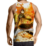 Fairy Tail Natsu Fire Dragon Slayer Phoenix Orange Tank Top