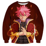 Fairy Tail Natsu Flame Armor Suit No Scarf Red 3D Sweatshirt