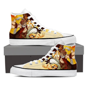 Fairy Tail Natsu Hot Fire Dragon Iron Fist Epic Orange Shoes