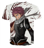 Fairy Tail Pissed Natsu Dragneel Dragon Slayer White T-Shirt