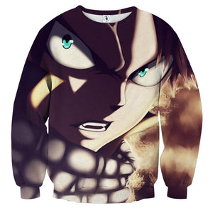 Fairy Tail Pissed Natsu Dragneel Salamander Flame Sweatshirt