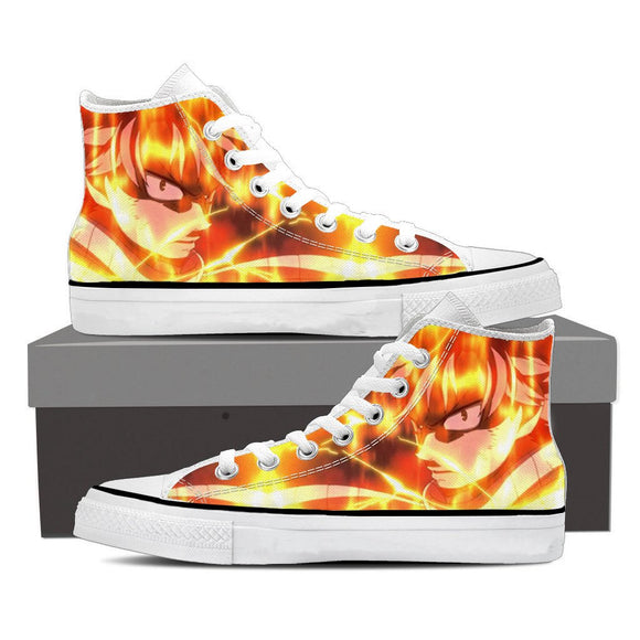 Fairy Tail Pissed Natsu Dragneel Scary Gaze Orange 3D Shoes