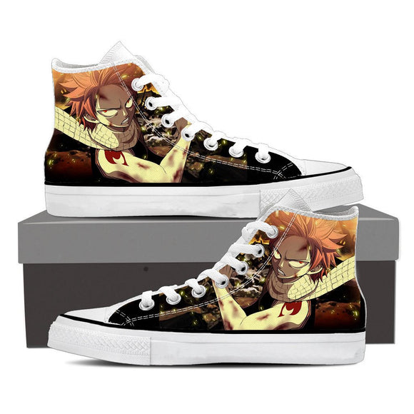 Fairy Tail Scary Natsu Dragneel Angry Wounded Face 3D Shoes