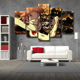 Fairy Tail Scary Natsu Dragneel Wounded Face 5pcs Wall Art