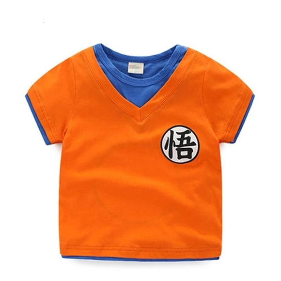 Dragon Ball Z Son Goku's Kanji Symbol Cosplay Kids T-Shirt