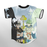 Asta and Yuno Cool Sword Superhero Pose Black Clover Baseball Jersey