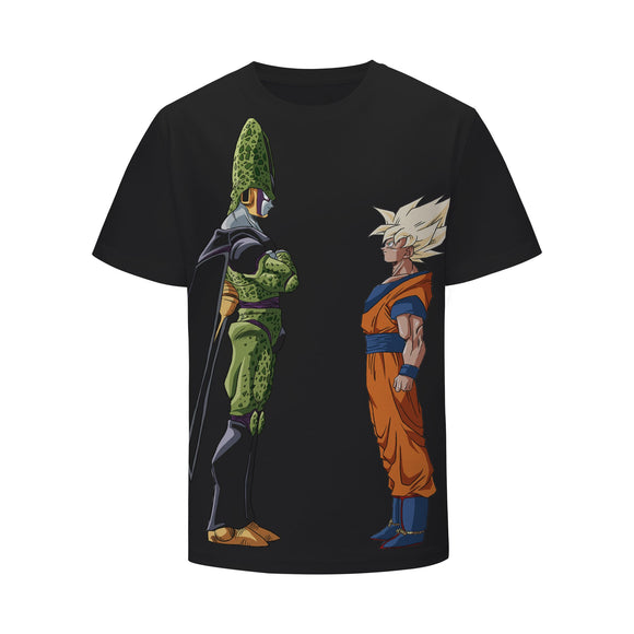 Dragon Ball Z Android Cell Face To Face With Goku T-Shirt