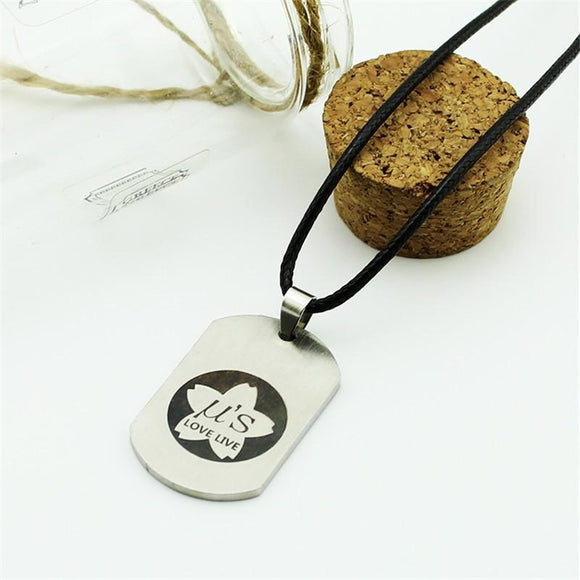 Love Live! Anime School Idol Project Symbol Titanium Pendant Necklace - Konoha Stuff - 1