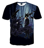 My Hero Academia Fumikage Tokoyami Dark Shadow Blue T-Shirt