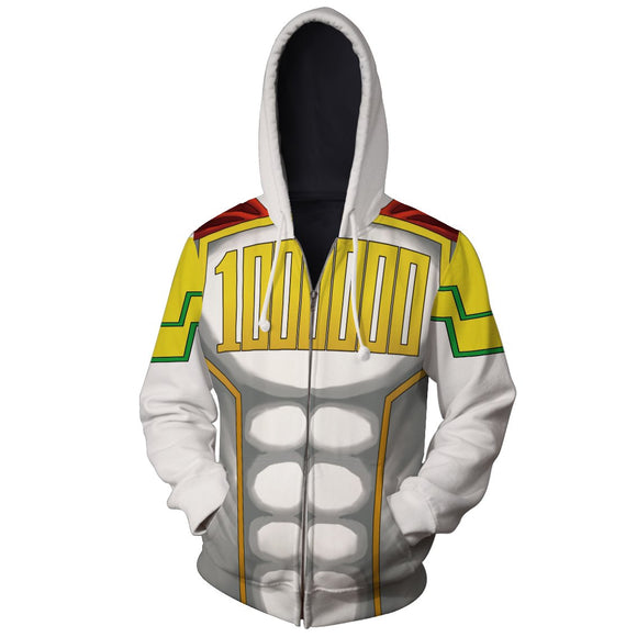 My Hero Academia Mirio Togata Outfit Cosplay Zip Up Hoodie