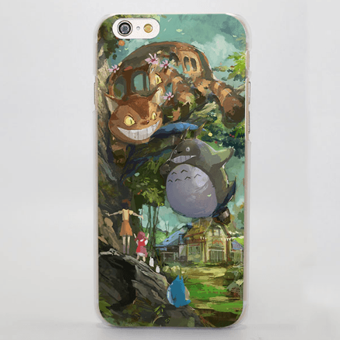 My Neighbor Totoro Cat Bus Painting iPhone 4 5 6 7 Plus Case