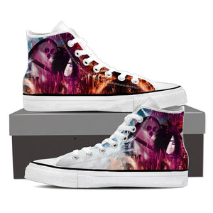 Naruto Anime Madara Uchiha Sharingan Violet Sneakers Shoes