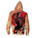 Naruto Uchiha Itachi Mangekyou Sharingan Red Zip Up Hoodie