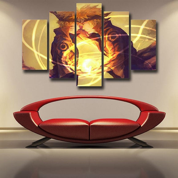 Naruto Boruto Father-Son Rasengan Fan Art Cool 5pcs Wall Art
