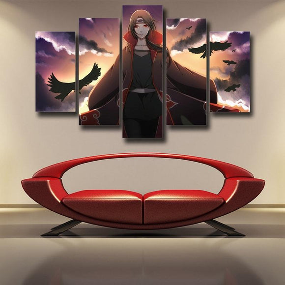 Naruto Female Itachi Fanart Design Akatsuki Dope 5pcs Canvas