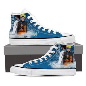 Naruto Sasuke Two Sides Anime Amazing Cool 3D Sneakers Shoes