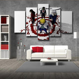 Naruto Shippuden Anime Cool Konoha Hokage White 5pcs Canvas