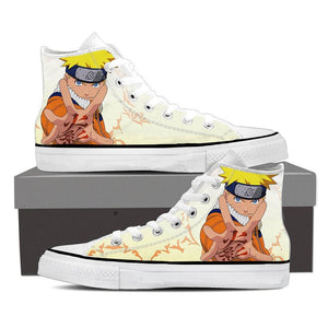Naruto Uzumaki Legendary Konoha Ninja White Sneakers Shoes