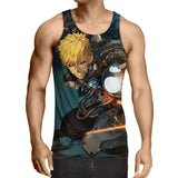 One-Punch Man Aggressive Genos Fighting 3D Print Tank Top