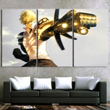 One-Punch Man Angry Genos The Demon Cyborg 3pcs Canvas Print